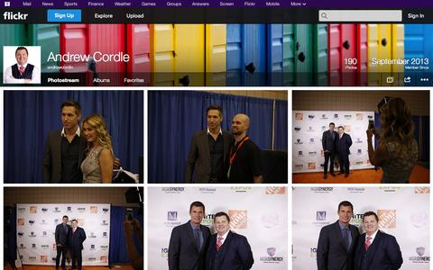 Screenshot of Flickr Page flickr.com - Flickr: andrewcordle's Photostream - captured Oct. 30, 2014