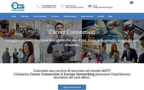 Screenshot of Jobs Page europanetworking.net - Careers - captured July 22, 2018