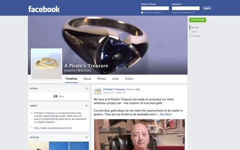 Screenshot of Facebook Page facebook.com - A Pirate's Treasure | Facebook - captured Oct. 22, 2014