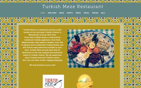 Screenshot of Home Page turkishmeze.com - Turkish Meze Restaurant - captured Oct. 7, 2014