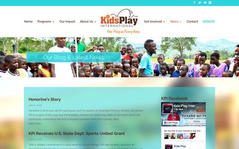 Screenshot of Blog kidsplayintl.org - Blog | Kids Play Int'l - captured Nov. 27, 2016