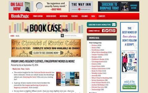 Screenshot of Blog bookpage.com - The Book Case Blog | Book Reviews, Author Interviews, Book Blogs | BookPage - captured Sept. 19, 2014