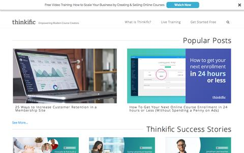 Thinkific Blog | Create, Market & Sell Online Courses