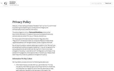 Grabble — Privacy Policy