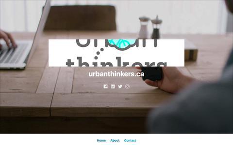 Screenshot of Contact Page wordpress.com - Contact – urbanthinkers.ca - captured Sept. 20, 2018