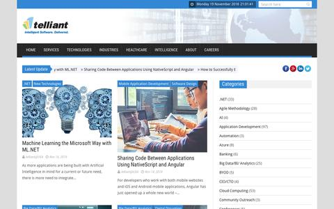 Screenshot of Blog telliant.com - Blog | Telliant Systems  Blog | Telliant Systems - Telliant is an IT services and staffing company providing range of services including application development, software testing, performance analysis and tuning. - captured Nov. 19, 2018