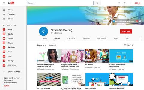 catalinamarketing - YouTube