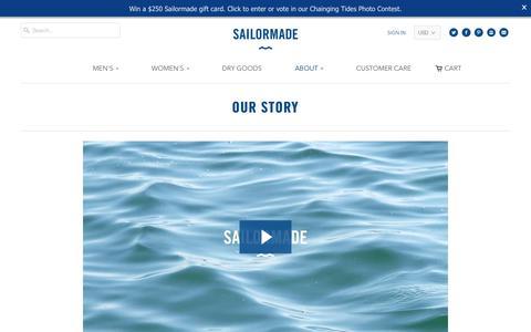 Screenshot of About Page sailormadeusa.com - Our Story - Sailormadeusa - captured Oct. 1, 2018