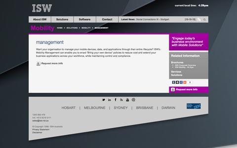 Screenshot of Team Page isw.com.au - management - ISW - Australian IBM Premier Business Partner - captured Dec. 22, 2015