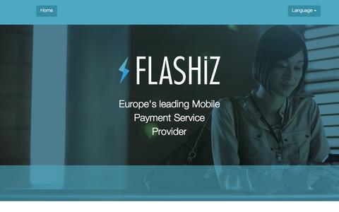 Screenshot of Login Page flashiz.com - FLASHiZ |         Europe's leading Mobile Payment Service Provider - captured Jan. 8, 2016