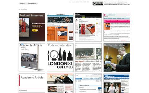 Screenshot of Press Page platform-7.com - Platform-7 Press & Media - captured May 19, 2017