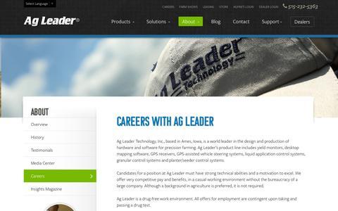 Screenshot of Jobs Page agleader.com - Careers | Ag Leader Technology - captured Sept. 19, 2014