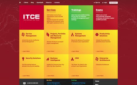 Screenshot of Services Page itce.com - IT and Management Consulting – ITCE – Consulting Services - captured Oct. 6, 2014