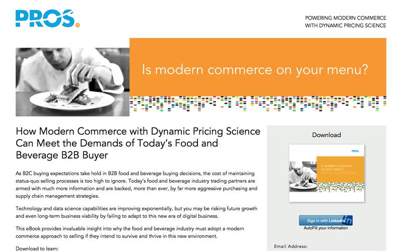 Is modern commerce on your menu? | PROS Resources | PROS