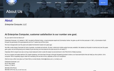 Screenshot of About Page enterprisecomputer.com - About Us - Enterprise Computer LLC. - captured Dec. 10, 2015