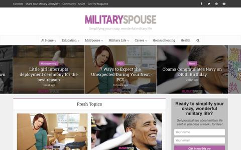 Screenshot of Home Page militaryspouse.com - Military Spouse - captured Oct. 15, 2015