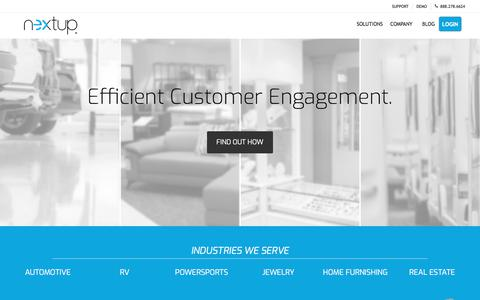Screenshot of Home Page thenextup.com - Automotive Up System for Dealerships - Nextup - captured Nov. 11, 2019