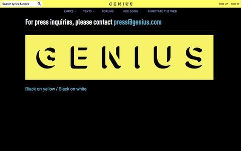 Screenshot of Press Page genius.com - Genius | Annotate the World - captured Nov. 18, 2015