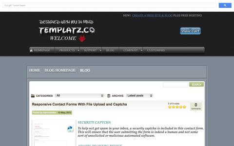 Screenshot of Blog templatz.co - Blog - Blogging About Responsive Website Design - captured Nov. 3, 2014