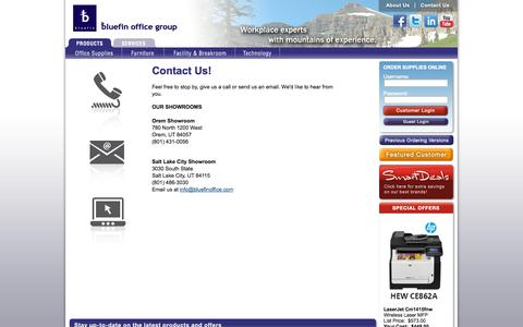 Screenshot of Contact Page bluefinoffice.com - Bluefin Office Group - Contact Us - captured Oct. 5, 2014