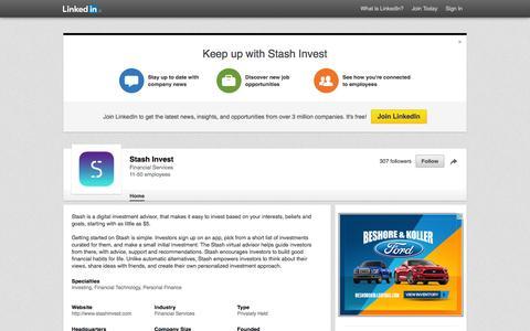 Stash Invest | LinkedIn