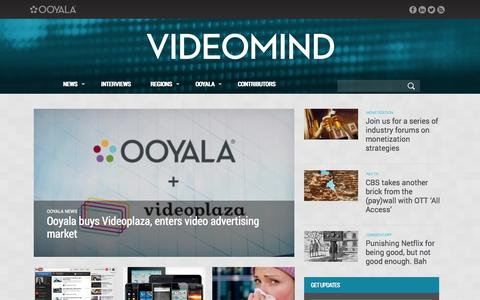 Screenshot of Blog ooyala.com - Videomind - Online video industry data, news and interviews - captured Oct. 28, 2014