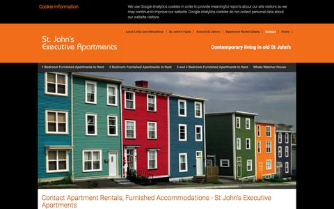 Screenshot of Contact Page stjohnsexecutiveapartments.net - Contact Apartment Rentals, Furnished Accommodations - St John's Executive Apartments - captured June 16, 2017