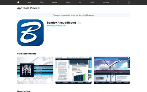 Bentley Annual Report on the App Store
