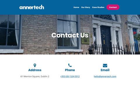 Screenshot of Contact Page annertech.com - Contact Us | Annertech - captured Jan. 27, 2019