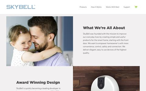 Screenshot of About Page skybell.com - About Us – SkyBell Video Doorbell - captured Feb. 14, 2016