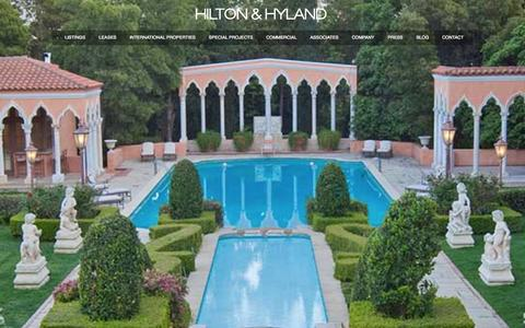 Screenshot of Home Page hiltonhyland.com - Beverly Hills Real Estate | Beverly Hills Luxury Real Estate | Los Angeles Luxury Real Estate - captured Sept. 24, 2014