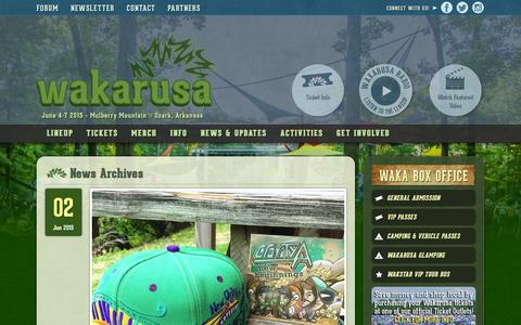 Screenshot of Press Page wakarusa.com - News Archives - Wakarusa Music Festival - captured Dec. 4, 2015