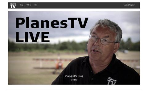 Screenshot of Home Page planestv.com - PlanesTV | Aviation Action - captured Jan. 28, 2016
