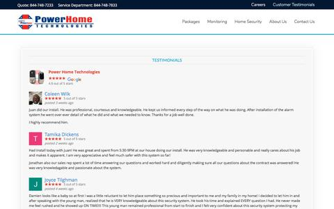 Screenshot of Testimonials Page pht.com - Customer Testimonials | See What Our Customers Say - captured Aug. 22, 2017