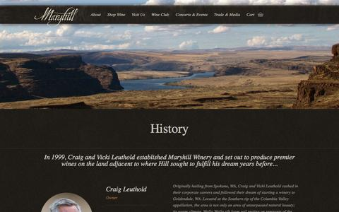 Screenshot of About Page maryhillwinery.com - Columbia Valley Wines in Washington – Our History  | Maryhill Winery - captured Oct. 29, 2014