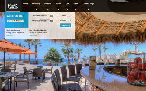Screenshot of Home Page welkresorts.com - Home - Welk Resorts - captured Oct. 1, 2015