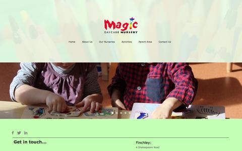 Screenshot of Contact Page magicnursery.co.uk - Contact Us - captured Oct. 4, 2014