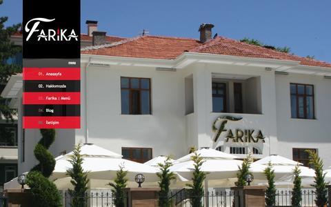Screenshot of Home Page farika.com.tr - Farika | Bistro - captured Sept. 12, 2015