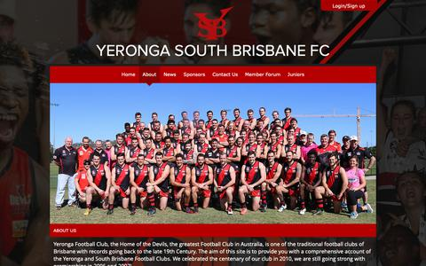Screenshot of About Page yerongafc.com.au - About - captured Oct. 30, 2018
