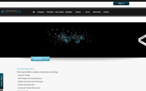 Screenshot of Services Page cromapix.com - Services | Cromapix For Web Development-Jordan - captured Dec. 13, 2015