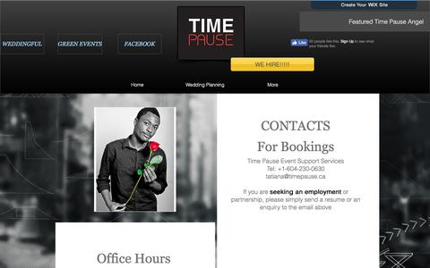 Screenshot of Contact Page timepause.ca - CONTACT - captured Oct. 25, 2017