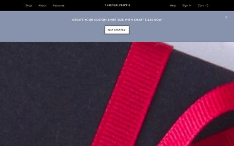 Screenshot of Home Page propercloth.com - Custom Dress Shirts | Custom Made to the Highest Standards - Proper Cloth - captured Dec. 17, 2015