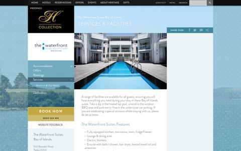 Screenshot of Services Page heritagehotels.co.nz - Services & Facilities | Heritage Hotels - captured April 11, 2017