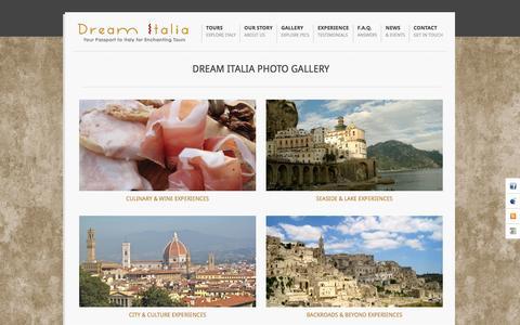 Screenshot of Menu Page dreamitalia.com - Gallery | Dream Italia: Experience the Magic of Italy - captured Aug. 2, 2016