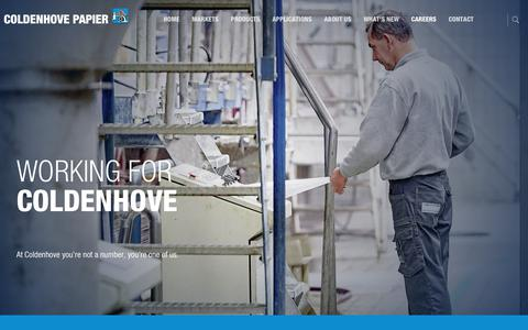 Screenshot of Jobs Page coldenhove.com - Careers   Coldenhove Papier - captured Aug. 11, 2017