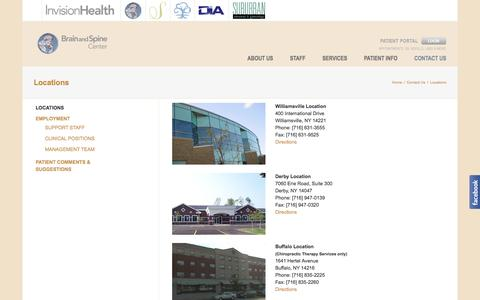 Screenshot of Locations Page mybrainandspine.com - Locations - My Brain and Spine Center - captured Oct. 11, 2017