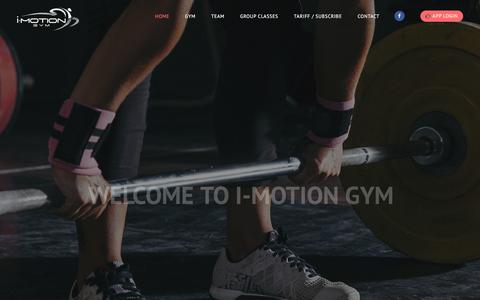 Screenshot of Home Page imotiongym.com - I Motion Gym Mauritius | Your Gym in Ebene - Fitness centres Mauritius - captured Sept. 12, 2018