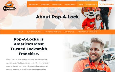 Screenshot of About Page popalock.com - About Pop-A-Lock® - captured Nov. 1, 2019