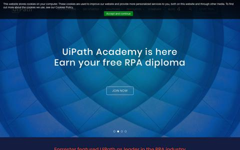 uipath com's Web Marketing Designs | Crayon