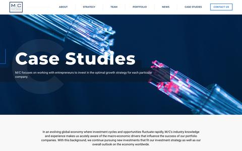 Screenshot of Case Studies Page mcpartners.com - Case Studies - MC Partners - MC Partners - captured July 24, 2018